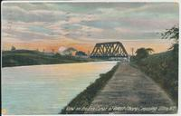 View on the Erie Canal at West Shore Crossing Utica, N.Y. (1front) [e0101ac1]