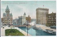 Clinton Square and Erie Canal Syracuse N.Y. [front caption] (1front) [e0041ac1]