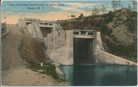View showing Canal Locks at Delta Dam. Rome, New York [front caption] (1front) [b0070ac1]