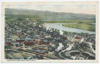 BIRD'S EYE VIEW, PORT JERVIS, N.Y. [front caption] (1front) [d0106ac1]