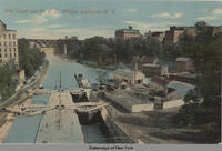 Erie Canal and New York C. Bridge, Lockport, N.Y. [front caption] (1front) [e0197ac1]