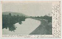 IN THE MOHAWK VALLEY. Erie Canal near Utica, N.Y. Grand View in the Distance. [front caption] (1front) [e0100ac1]