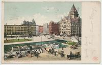 CLINTON SQUARE. SYRACUSE, N.Y. [front caption] (1back) [e0635ac1]