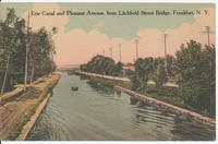 Erie Canal and Pleasant Avenue, Front Litchfield Street Bridge, Frankfort, N.Y. [front caption] (1front) [e0663ac1]