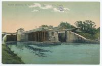 PORT BYRON, New York  Lock on Erie Canal (1front) [e0657ac1]