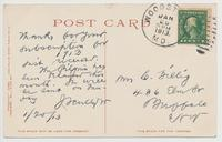 ARRIVAL OF PILGRIMS BY CANAL BOAT, AURIESVILLE, N.Y. [front caption] (2back) [e0643ac2]