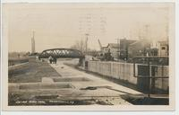NEW LOCK BARGE CANAL BALDWINSVILLE, N.Y. [handwritten front caption] (1front) [b0076ac1]