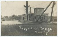 Barge Canal Dredge Rome N.Y [handwritten front caption] (1front) [b0073ac1]