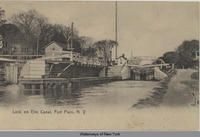 Lock on Erie Canal, Fort Plain, N.Y. [front caption] (1front) [e0154ac1]