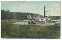 Dredge, working in Barge Canal, Fort Ann, N.Y. [front caption] (1front) [b0016ac1]