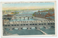 BROAD STREET AND COURT STREET BRIDGES AND N.Y. STATE BARGE CANAL TERMINAL, ROCHESTER, N.Y. [front caption] (1front) [e0032ac1]