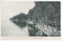 MOUTH OF WOOD RIVER WHERE BARGE CANAL WILL ENTER ONEIDA LAKE, SYLVAN BEACH, N.Y. [front caption] (1front) [b0032ac1]