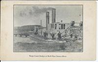 Barge Canal Dredge at Work Near Seneca River. [front caption] (1front) [b0033ac1]