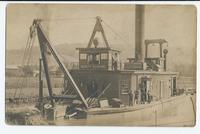 Dewitt Clinton steam dredge on canal.[front caption] (1front) [b0038ac1]