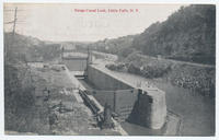 Barge Canal Lock, Little Falls, N.Y. [front caption] (1front) [b0021ac1]