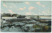 Barge Canal from Bridge, Fulton, New York [front caption] (1front) [b0001ac1]