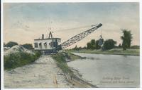 Building Barge Canal, Cleveland and Son's shovel [front caption] (1front) [b0004ac.1]