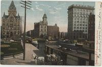Syracuse, N.Y. Clinton Square & Erie Canal [front caption]  (1front) [e216ac1]