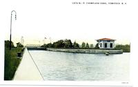 LOCK No. 11, CHAMPLAIN CANAL, COMSTOCK, N.Y. [front caption] (1 front) [c0096ac1]