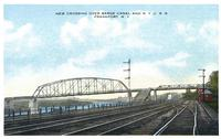 New Crossing Over Barge Canal And New York C. R. R., Frankfort. New York [front caption] (1front) [b0100ac1.jpg]
