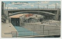 View of New Lock and Bridge, Lockport, N.Y. [front caption] (1 front) [b0098ac1]
