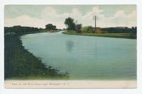 Erie Canal near Brockport, New York [front caption, printed in maroon ink] (1front) [e0674ac1]
