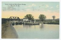 Lower Lock and West Shore Bridge, Newark, N.Y. (1front) [e0701ac1]
