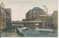 Main St., Bridge over Erie Canal, Newark, N.Y. [front caption in red ink] (1front) [e0704ac1]