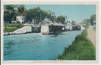 ERIE CANAL AND LOCKS, FORT PLAIN, N.Y. [front caption in red ink] (1front) [e0677ac1]