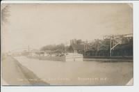 GAS WORKS AND ERIE CANAL BROCKPORT, N.Y.[handwritten front caption in white ink] (1front) [e0694ac1]