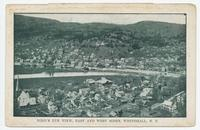 BIRD'S EYE VIEW, EAST AND WEST SIDES, WHITEHALL, N.Y. [front caption] (1 front) [c0092ac1]