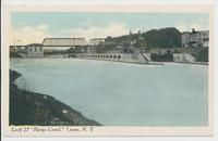 "Lock 27 ""Barge Canal,"" Lyons, N.Y[.] [front caption] (1front) [b0104ac1]"