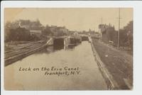 Lock on the Erie Canal Frankfort, N.Y. [front caption] (1front) [e0682ac1]