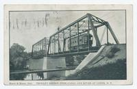 TROLLEY BRIDGE OVER CANAL AND RIVER AT LYONS, N.Y. [front caption] (1 front) [e0668ac1]