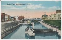 Locks [Upper Level], Lockport, N.Y. [front caption] (1front) [b0115ac1]