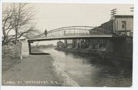 Canal at Weedsport, N.Y. [Handwritten front caption in white ink] (1 front) [e0685ac1]