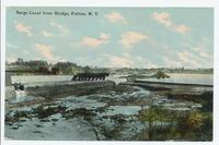 Barge Canal from Bridge, Fulton, New York [front caption] (1front) [b0094ac1)