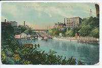 Erie Canal and Locks. Lockport, New York [front caption printed in red ink] (1 front) [e0683ac1]