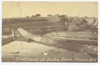 Erie Canal at Delta, Dam. Rome, N.Y. [front caption printed in white ink ] (1front) [e0691ac1.jpg]