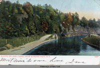 BLUFFS ON ERIE CANAL NEAR SCHENECTADY, N.Y. [front caption]  (1front) [e0260ac1]