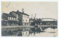 ERIE CANAL MIDDLEPORT N.Y.  [white handwritten front caption, MIDDLEPORT N.Y. written twice] (1front) [e0673ac1]
