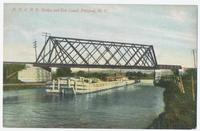 New York C. R. R. Bridge and Erie Canal, Pittsford, N.Y. [front caption printed in red ink] (1front) [e0712ac1]