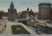 SYRACUSE, N.Y. Clinton Square [front caption] (1front) [e0270ac1]