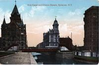 Erie Canal and Clinton Square, Syracuse, N.Y. [front caption] (1front) [e0201ac1]