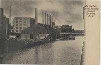 On the Erie Canal, Passing Through Syracuse, N.Y. [front caption] (1front) [e0202ac1]