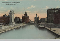 Clinton Square, looking East, Syracuse, N.Y. [front caption] (1front) [e0211ac1]