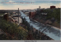 Erie Canal East of N.Y.C. Bridge, Lockport, N.Y. [font caption] (1 front) [e0394ac1]