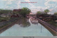 Locking on Seneca Canal, Waterloo, N.Y. [front caption] (1front) [s0008ac1]
