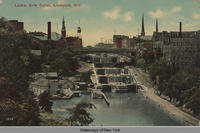 Locks, Erie Canal, Lockport, N.Y. [front caption] (1front) [e0172ac1]