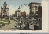 Packet Dock - Erie Canal. Syracuse, N.Y. [front caption] (1front) [e0187ac1]